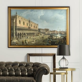 The-Doge-Palace -by CANALETTO - Gold Frame