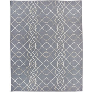 RUGGABLE Washable Indoor/ Outdoor Stain Resistant Pet Area Rug Amara Grey (8' x 10') - 8' x 10'