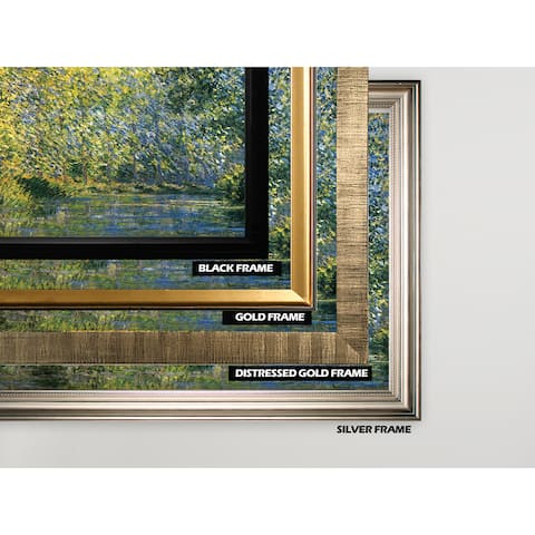 Bend-in-the-River -Claude Monet -Silver Frame