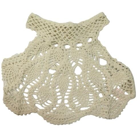 Minkpink Dreamweaver Ivory Crochet Bikini Top