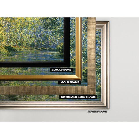 Bend-in-the-River -Claude Monet - Gold Frame
