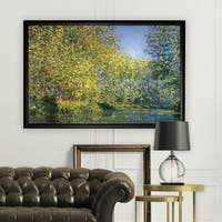 Bend-in-the-River -Claude Monet - Black Frame