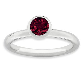 Sterling Silver Affordable Expressions High 5Mm July Swarovski Ring