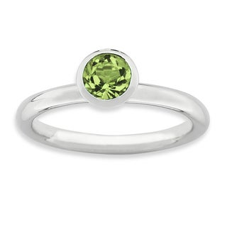 Sterling Silver Affordable Expressions High 5Mm August Swarovski Ring