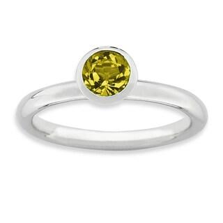 Sterling Silver Affordable Expressions High 5Mm November Swarovski Ring