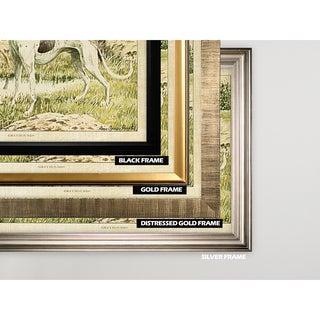 Canine Plate II - Gold Frame