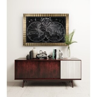 Monde Map -Antique Gold Frame