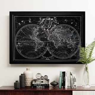 Monde Map - Black Frame