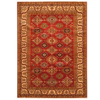 Herat Oriental Afghan Hand-knotted Super Kazak Wool Rug (5'8 x 7'9)