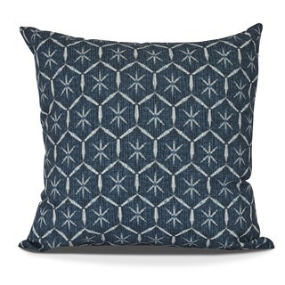 Tufted, Geometric Print Outdoor Pillow