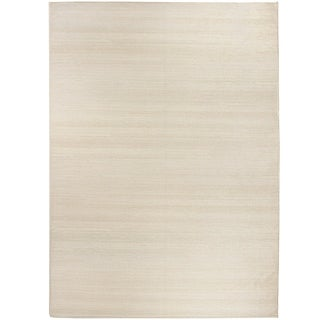 RUGGABLE Washable Indoor/ Outdoor Stain Resistant Pet Area Rug Solid Textured Cream (5' x 7') - 5' x 7'