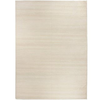 RUGGABLE Washable Stain Resistant Pet Area Rug Solid Textured Cream - 5' x 7'
