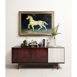 Plaster Satuette of a Horse - Gold Frame