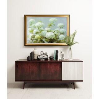 White Hydrangea Garden - Gold Frame