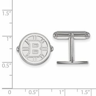 Sterling Silver NHL LogoArt Boston Bruins Cuff Links