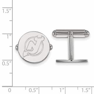 Sterling Silver NHL LogoArt New Jersey Devils Cuff Links