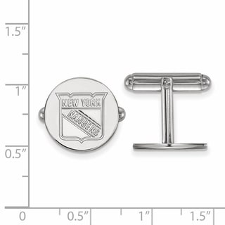 Versil Sterling Silver NHL LogoArt New York Rangers Cuff Links
