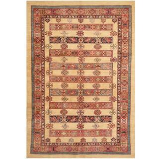 Handmade One-of-a-Kind Super Kazak Wool Rug (Afghanistan) - 5'7 x 8'1