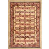 Herat Oriental Afghan Hand-knotted Super Kazak Wool Rug (5'7 x 8'1)