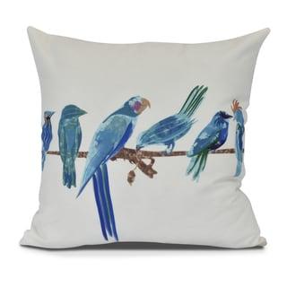 Morning Birds, Animal Print Outdoor Pillow