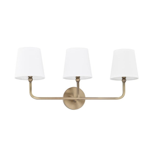 Shop Capital Lighting Dawson Collection 3-light Aged Brass Bath ...