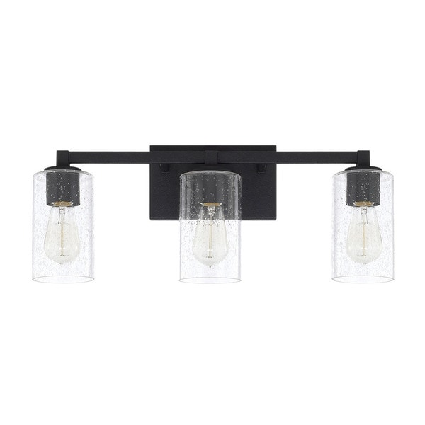 black bathroom lights shop capital lighting ravenwood collection 3 light black 12095
