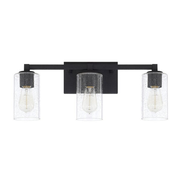 black bathroom vanity light shop capital lighting ravenwood collection 3 light black 17386