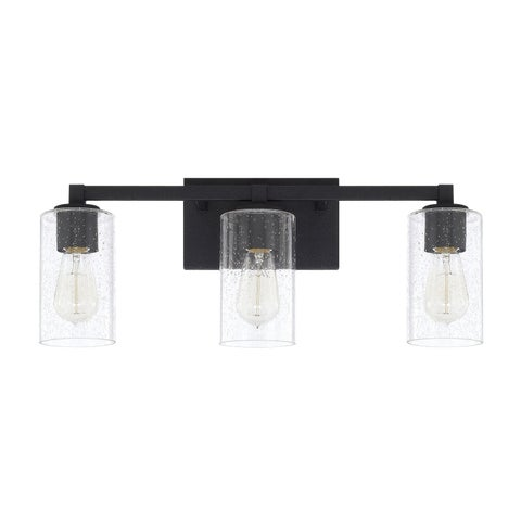 Capital Lighting Ravenwood Collection 3-light Black Iron Bath/Vanity Light