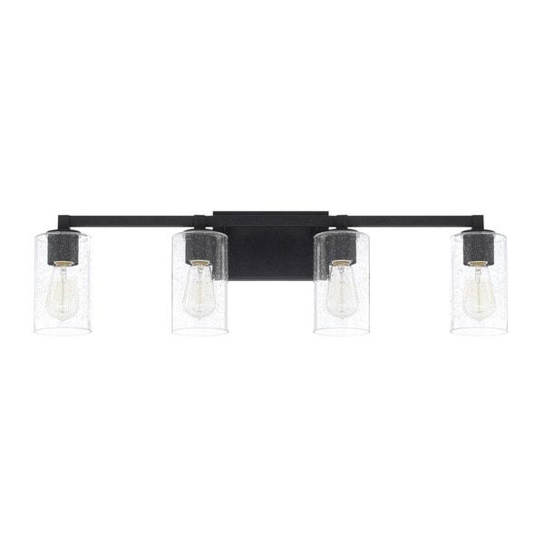 Shop Capital Lighting Ravenwood Collection 4-light Black Iron Bath ...