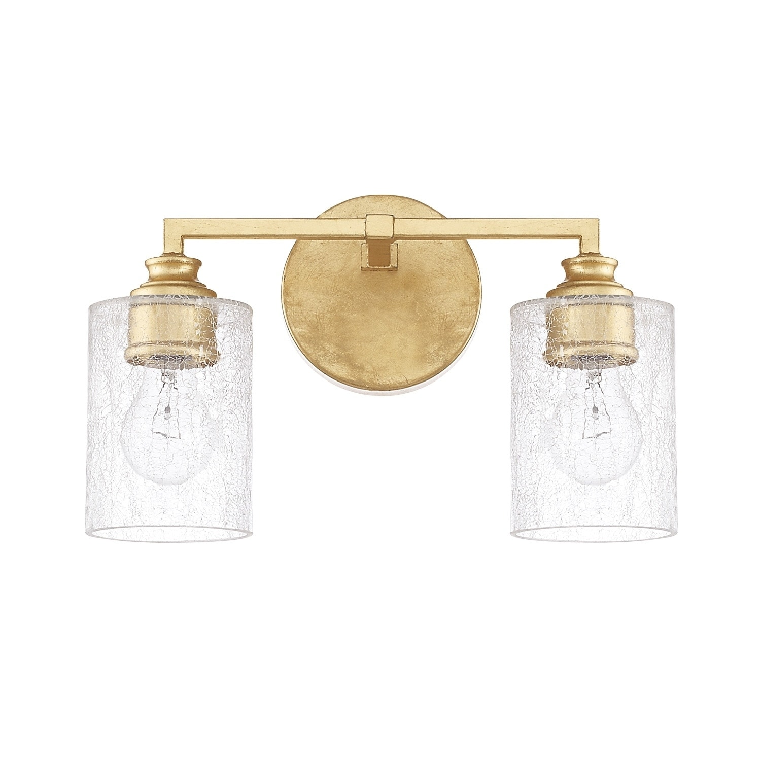 Milan 2 Light Capital Gold Bath Vanity Fixture Overstock 15410454