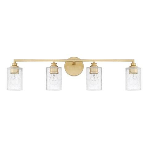 Capital Lighting Milan Collection 4-light Capital Gold Bath/Vanity Light