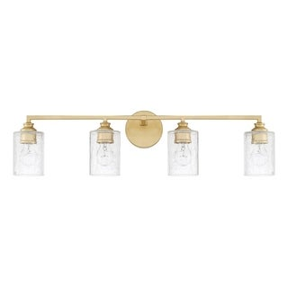 Capital Lighting Milan Collection 4-light Capital Gold Bath/Vanity Light