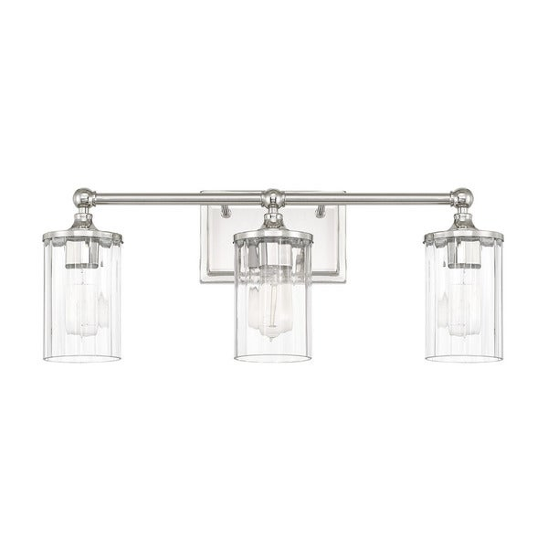 Charming Capital Lighting Camden Collection 3 Light Polished Nickel Bath/Vanity Light