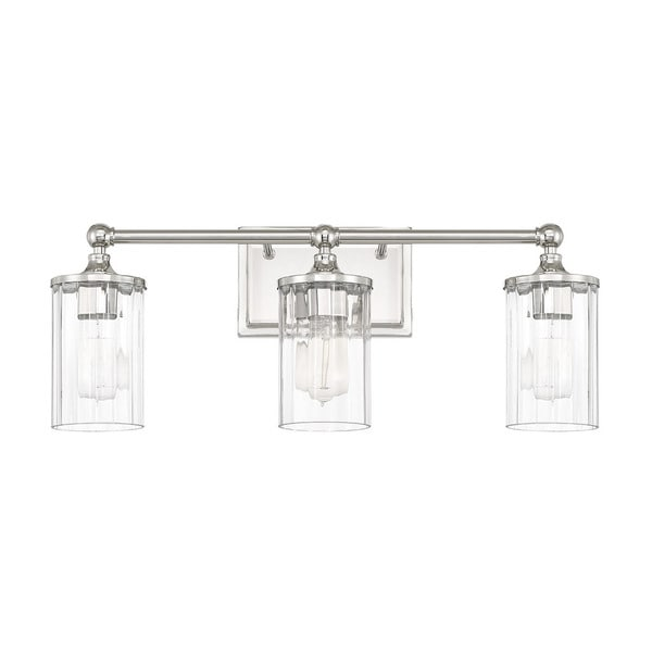 Shop Capital Lighting Camden Collection Light Polished Nickel Bath - Polished nickel bathroom light fixtures