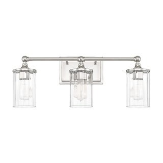 Charmant Capital Lighting Camden Collection 3 Light Polished Nickel Bath/Vanity Light
