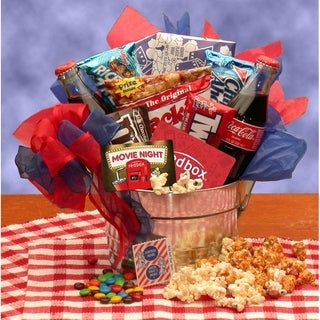Blockbuster Movie Pail Gift Box w/ Redbox Gift Card