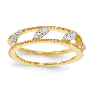 Sterling Silver Affordable Expressions Gold-plated Diamond Jacket Ring