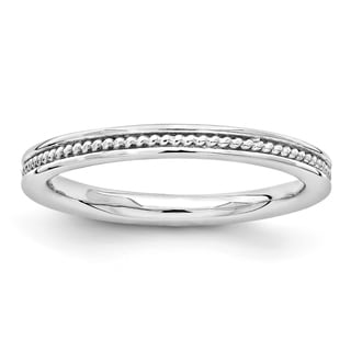 Sterling Silver Affordable Expressions Rhodium Channeled Ring