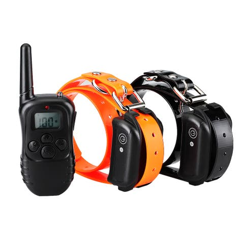 Rechargeable Waterproof Dog Collar with Light/Beep/Vibration/Static Operations