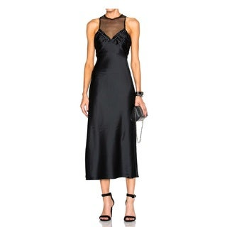 Alexander Wang Black Balls Studs Slip Dress