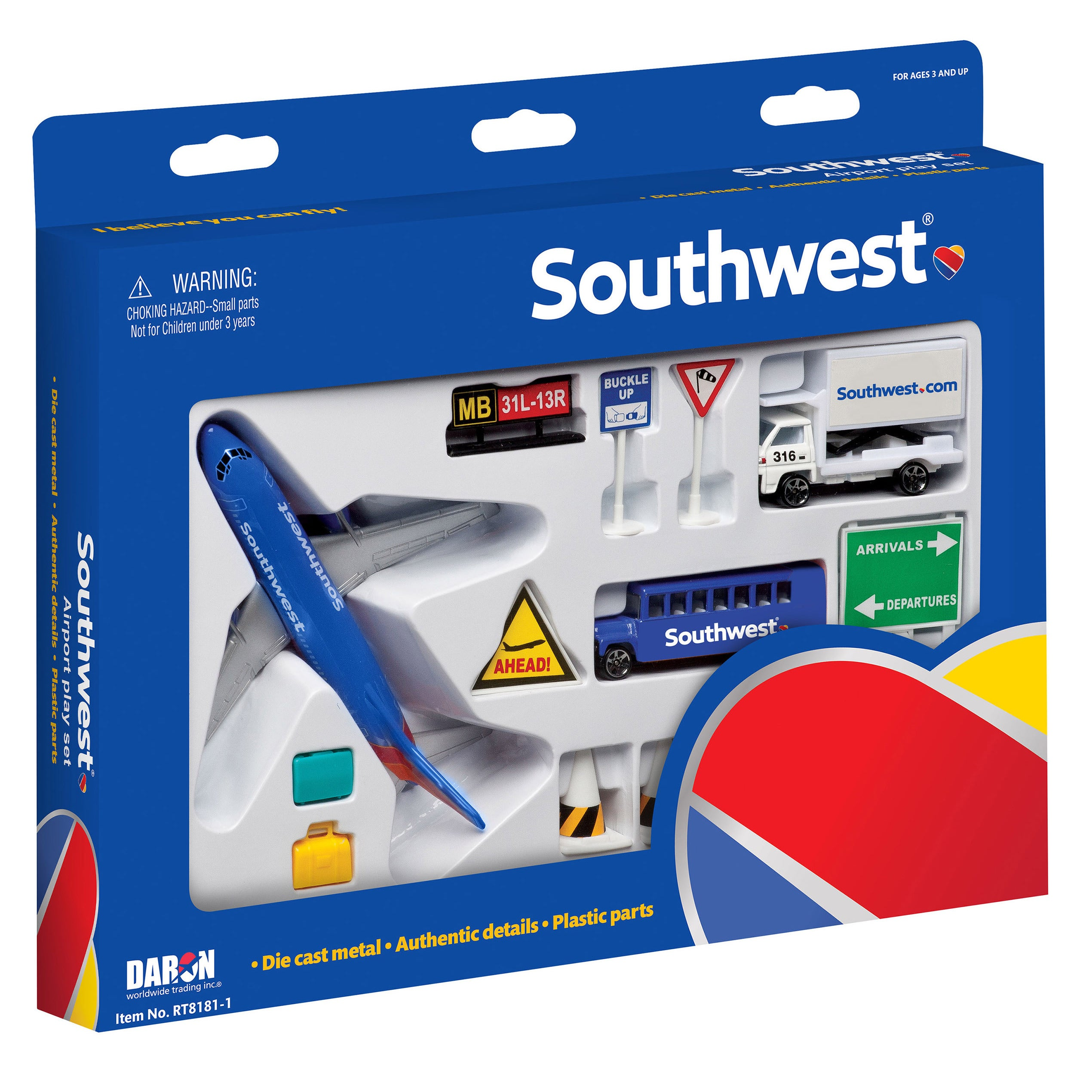 Daron Southwest Airlines Airport Play Set (G606411081814)...