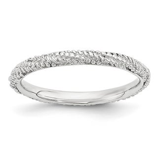 Sterling Silver Affordable Expressions Polished Textured Ring