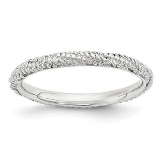 Sterling Silver Affordable Expressions Polished Textured Ring|https://ak1.ostkcdn.com/images/products/15410943/P21867524.jpg?impolicy=medium