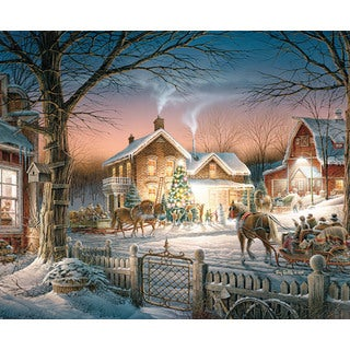 White Mountain Puzzles Trimming The Tree -1000 Piece Jigsaw Puzzle