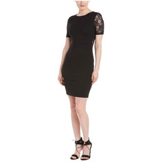 French Connection Linear Lace Sleeve Sheath