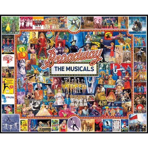 White Mountain Puzzles Broadway - 1000 Piece Jigsaw Puzzle - Multi