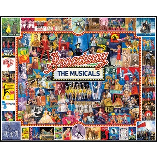 White Mountain Puzzles Broadway - 1000 Piece Jigsaw Puzzle