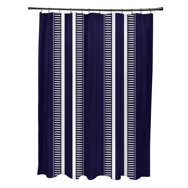 Dashing Stripe, Stripe Print Shower Curtain