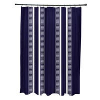 Dashing Stripe, Stripe Print Shower Curtain