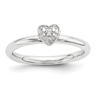 Sterling Silver Affordable Expressions Polished Diamond Heart Ring
